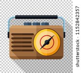 ratro radio icon icon in flat... | Shutterstock .eps vector #1152842357