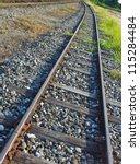 view above of railway in... | Shutterstock . vector #115284484