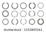 vector laurel wreaths on white...   Shutterstock .eps vector #1152845261