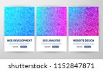 seo development flyer concepts. ... | Shutterstock .eps vector #1152847871