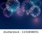 holiday firework vector on...   Shutterstock .eps vector #1152848051