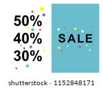 sale banner template design ... | Shutterstock .eps vector #1152848171