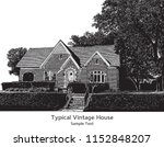 typical suburb house in vintage ... | Shutterstock .eps vector #1152848207