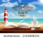 perfect moment quotes with... | Shutterstock .eps vector #1152848231