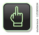 middle finger icon. nonverbal...