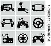 video game icons set | Shutterstock .eps vector #115285141