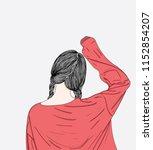 fashion illustration of girl... | Shutterstock .eps vector #1152854207