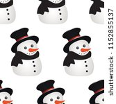 seamless winter background with ... | Shutterstock .eps vector #1152855137
