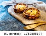 quiche lorraine with smoked... | Shutterstock . vector #1152855974