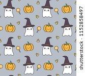 cute halloween seamless vector... | Shutterstock .eps vector #1152858497