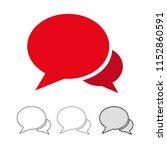 speech bubble chat vector icon | Shutterstock .eps vector #1152860591