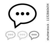 speech bubble chat vector icon | Shutterstock .eps vector #1152860654
