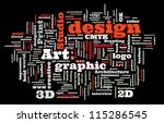 graphic design studio. trendy... | Shutterstock .eps vector #115286545