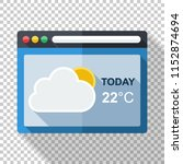 weather forecast application... | Shutterstock .eps vector #1152874694