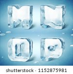 3d render of shiny frozen ice... | Shutterstock . vector #1152875981