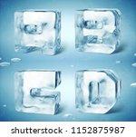 3d render of shiny frozen ice... | Shutterstock . vector #1152875987