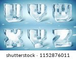 3d render of shiny frozen ice... | Shutterstock . vector #1152876011