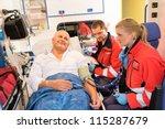 Paramedics Checking Patient...