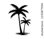 Palm Tree Silhouette Vector...