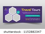 travel tours banner template ...   Shutterstock .eps vector #1152882347