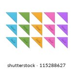 collection of retro ribbons | Shutterstock .eps vector #115288627