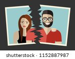 break up. crisis relationship... | Shutterstock .eps vector #1152887987