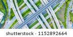 traffic trails on highway... | Shutterstock . vector #1152892664