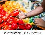 hand of younf african man...   Shutterstock . vector #1152899984