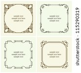 vector decorative text frames | Shutterstock .eps vector #115290319
