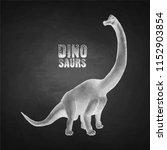 graphic brachiosaurus. vector... | Shutterstock .eps vector #1152903854