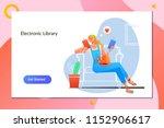 e book e learning electronic...   Shutterstock .eps vector #1152906617