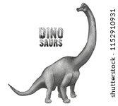 graphic brachiosaurus. vector... | Shutterstock .eps vector #1152910931