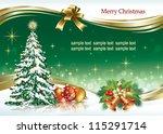 christmas design with balls ... | Shutterstock .eps vector #115291714