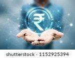 rupee currency . 2d rendering... | Shutterstock . vector #1152925394