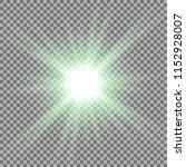 sunlight with lens flare effect ... | Shutterstock .eps vector #1152928007