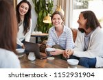 young female friends talking... | Shutterstock . vector #1152931904