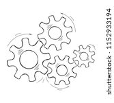 mechanical cogs vector sketch... | Shutterstock .eps vector #1152933194