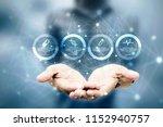 2d illustration medical... | Shutterstock . vector #1152940757