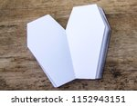 coffin leather journal  a book...   Shutterstock . vector #1152943151