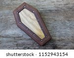 coffin leather journal  a book... | Shutterstock . vector #1152943154