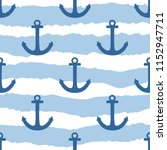 tile sailor vector pattern with ... | Shutterstock .eps vector #1152947711