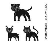 toy animals black icons in set...   Shutterstock . vector #1152948527