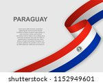 waving flag of paraguay.... | Shutterstock .eps vector #1152949601