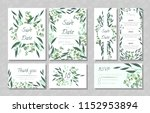 eucalyptus design. wedding... | Shutterstock .eps vector #1152953894