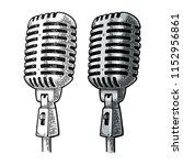 microphone. vintage vector... | Shutterstock .eps vector #1152956861