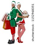 christmas time and elf.  | Shutterstock . vector #1152968351