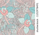 floral seamless pattern with... | Shutterstock .eps vector #1152978491