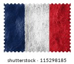 the french flag painted on... | Shutterstock . vector #115298185