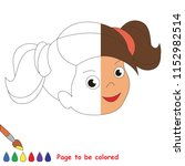brunette girl smile  the... | Shutterstock .eps vector #1152982514