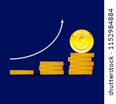 coins for the game interface.... | Shutterstock .eps vector #1152984884